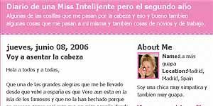 Imagen del blog 'Diario de una miss inteligente'.