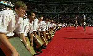 Imágen de la ceremonia de apertura del Mundial.