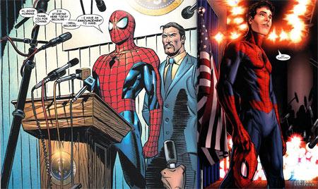 Spiderman se quita la máscara