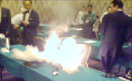 El incendio del ordenador explosivo