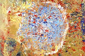 'Burning Blue Ball' (Bola Azul Ardiente), de Marla Olmstead. ( Marla Olmstead)