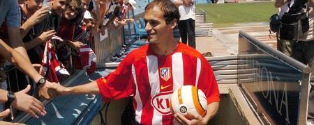 Pernía en el Estadio Vicente Calderón