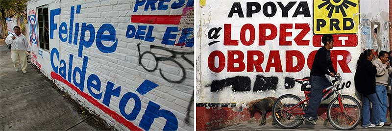 Pintadas electorales en México