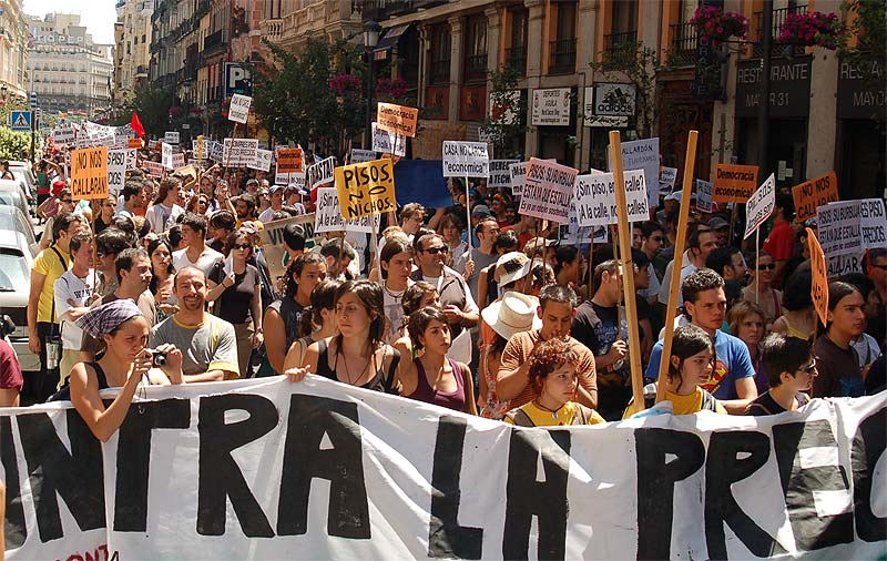Manifestación para reclamar una vivienda digna