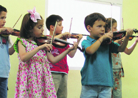 Violinistas de la talla mini