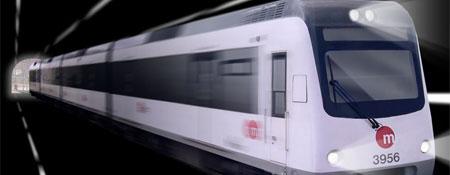 Un vagón del metro de Valencia en un gráfico informático (FOTO: Metro de Valencia).