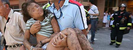 Valencia niña herida