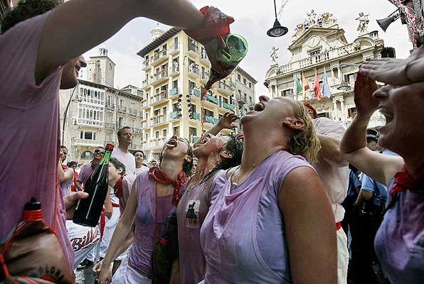 hupinazo vino en sanfermines