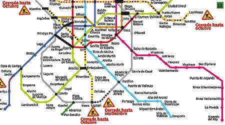 Mapa Metro De Madrid Linea 6