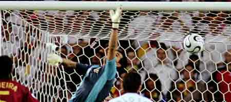 Imagen del primer gol de Alemania ante Portugal (3-1)