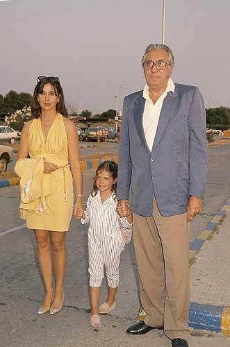 ... del Carmen Martínez Bordiú, Jean Marie Rossi y su hija Cinthia