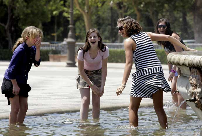 Mucho calor en España