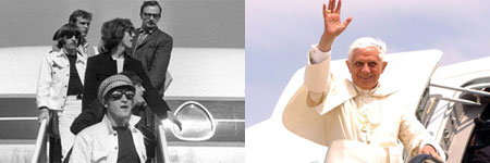 Llegada de los Beatles a España (1965) y despedida del Papa en Valencia (Luis Alonso / Efe).