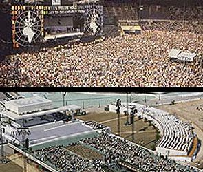 Un concierto de rock y el escenario papal en Valencia (Archivo / 20minutos.es).