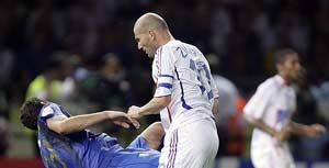 Materazzi y Zidane