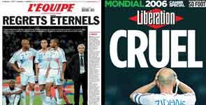 Portadas de Libération y L'Equipe sobre la final del Mundial.