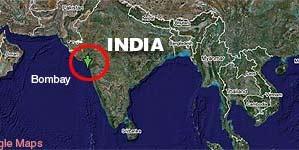 Localizador de la India (Google Map).