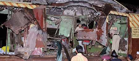 Uno de los trenes atacados en Bombay