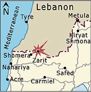Soldados israelíes y miembros de Hezbolá se enfrentan el la frontera con el Líbano (HAARETZ)