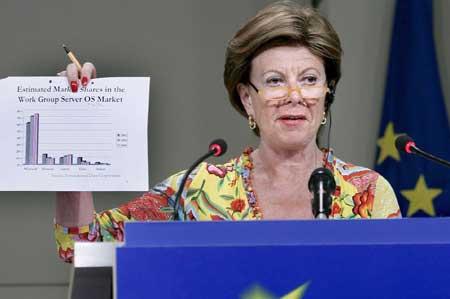 La comisaria europea de la Competencia, Neelie Kroes