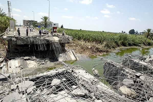 Líbano puente destruido