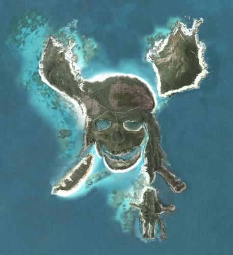 La Isla Pirata en Google Earth