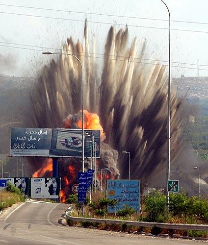 140706 Misil impacta en Líbano