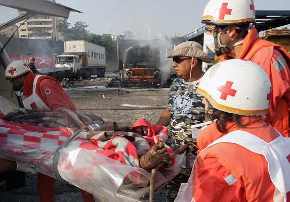 Líbano cuerpos quemados