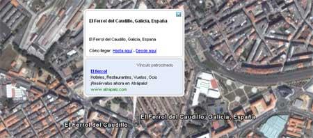 'El Ferrol del Caudillo' en Google Earth