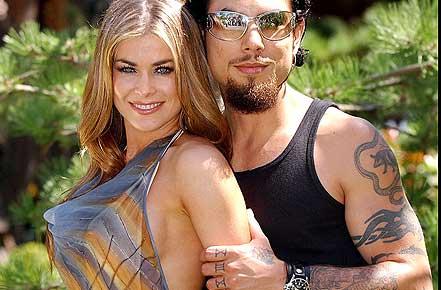 Carmen Electra y Dave Navarro
