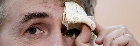 """Un hueso de un cr�neo encontrado en el """"Sima de los Huesos"""""""