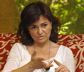 La ministra de Cultura, Carmen Calvo, en la entrevista en la que se declara fan de Lujuria