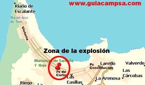 Zona de la explosión en Laredo (Guía Campsa).