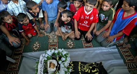 Ni�a palestina asesinada por Israel