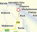 Situación del puerto de Wladyslawowo, donde se ha encontrado el portaaviones nazi. (<A href=