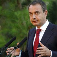Zapatero criticó duramente a los trabajadores de Iberia en el Prat.