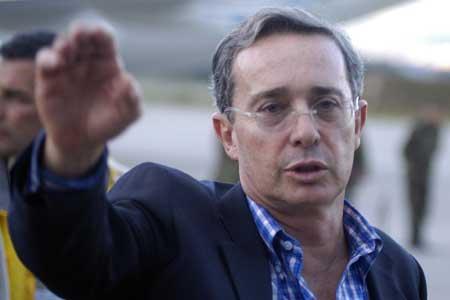 El presidente de Colombia, Alvaro Uribe V�lez. (Carlos ortega / Efe)