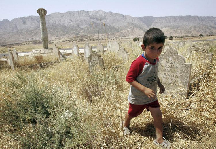 Tumbas de kurdos en el norte de Irak