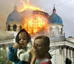El incendio comenzó en los andamios de la cúpula