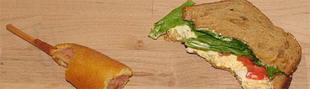 Sandwich y salchicha de Britney