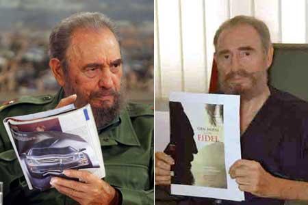 Fidel Castro, antes de sus problemas de salud actuales (i), y durante su recuperación (d). (Efe / Reuters)