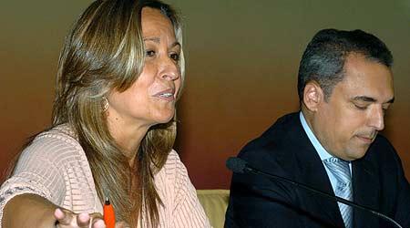Trinidad Jiménez con Rafael Simancas