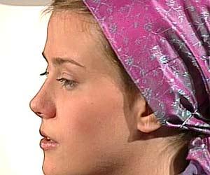 El perfil de Natascha durante la entrevista concedida a televisi�n p�blica austr�aca ORF.