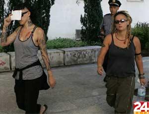 Imágenes de las españolas detenidas en Croacia
