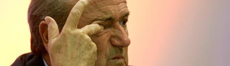 Blatter en la reunión de la FIFA en Berlín