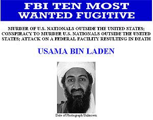 Bin Laden, el más buscado por el FBI.