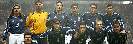 Riquelme (dorsal 8) con Argentina, en el pasado Mundial de Alemania
