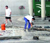 La estación de autobuses ha puesto al día su pavimento