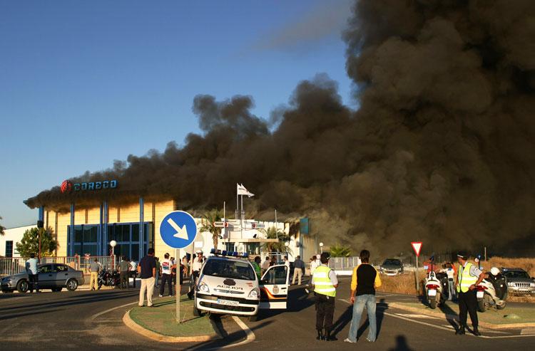 Incendio en Lucena, Córdoba