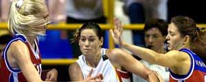 Montañana, jugadora de la selección española de baloncesto
